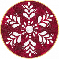 Winter Wreath Candle Mat