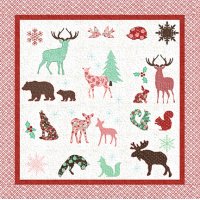 Woodland Christmas Lap Quilt