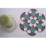 Christmas Wheels Candle Mat