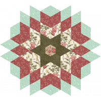 Christmas Star Candle Mat
