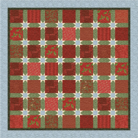 Christmas Stars Lap Quilt