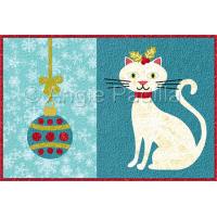 Christmas Cat Mug Rug