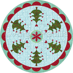 Christmas Trees Candle Mat