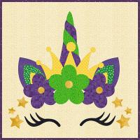 Mardi Gras Unicorn Cushion Cover