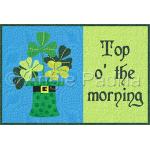 Top o' the morning Mug Rug