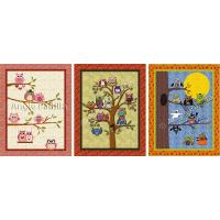 Three Owl Wall Hangings (bundle)