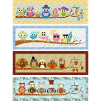 Seasonal Owl Table Runners (bundle)
