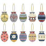 Applique Easter Egg Ornaments