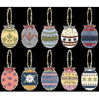 Applique Easter Egg Ornaments