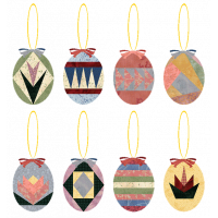 Paper Pieced Egg Ornaments