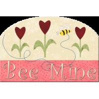 Bee Mine Mug Rug