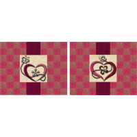 Fluttering Hearts Placemats