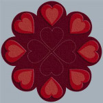 From my heart candle mat