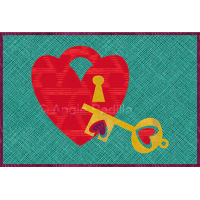 Key to my Heart Mug Rug