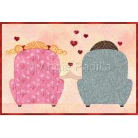 Valentine Love Mug Rug