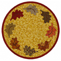 Autumn Leaves Candle Mat