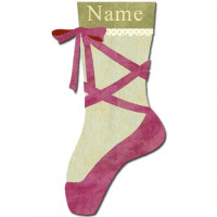 Ballerina Slipper Stocking