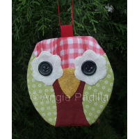 Cute Christmas Owl Ornament
