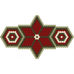 Hexagon Christmas Star