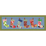 Jolly Stockings Table Runner