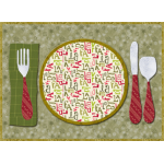 Holiday Place Setting Placemat