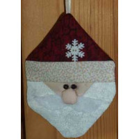 Jolly Paper-Pieced Santa Ornament
