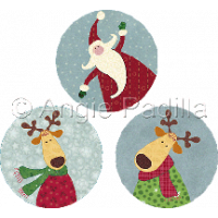 Santa & Reindeer Coasters