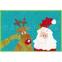 Santa & Rudolph Mug Rug