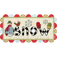 Snow Table Runner