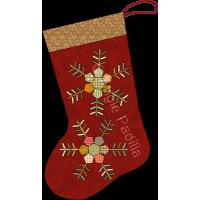 Hexie Snowflake Stocking