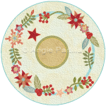 Christmas Flowers Candle Mat