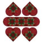 Christmas Hearts - Placemats and Tablerunner