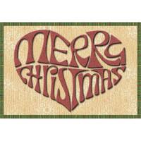 Merry Christmas Heart - Mug Rug