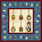 Christmas Ornaments Wall Hanging