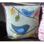 Bluebirds Sing Cushion Cover