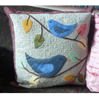 Bluebirds Sing Cushion Cover