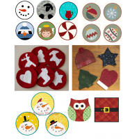 A Collection of Christmas Coasters