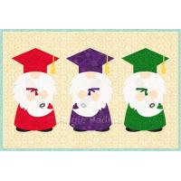 Graduation Gnomes Mug Rug
