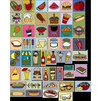 50 Picnic Food Blocks