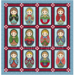 Christmas Matryoshkas Lap Quilt